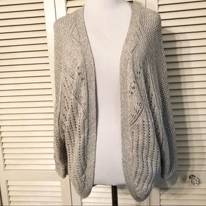 Maurice's | Open Front Knit Gray Cocoon Cardigan